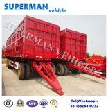 40FT Aanhangwagen die van de Vrachtwagen van het Vervoer van de Lading van de Zijgevel van 3axle de Semi Aanhangwagen trekken