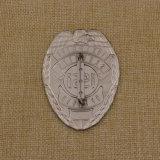 Kundenspezifische Qualitäts-Badge weiche Decklack-Metallgoldsilber-Polizei