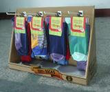 Pop mostrador con 4 ganchos de plástico para calcetines, pantalla de contador de pizarra, PDQ, pantalla de calcetín