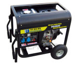 6.0kw Air Cooled Portable Diesel Generator mit Handle und Wheels