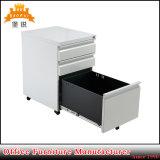 Fas-040 3引出しの鋼鉄オフィスの食器棚の移動式金属のファイリングキャビネット