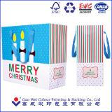 Мешок нового конструкции 2016 способа фабрики подарка рождества сразу изготовленный на заказ бумажный
