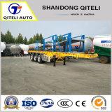 3 ESSIEUX 40FT Conteneur / squelette lit plat /la paroi latérale du fret /Utilitaire semi-remorque de camion cargo