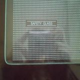 8 mm 6 mm da tampa do resfriador de vidro temperado com impressão em serigrafia