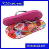 Ультрамодная симпатичная сандалия PE печати цветка для женщин