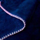 Cobertor coral do velo da flanela cheia contínua por atacado da cor da marinha do luxuoso