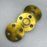 A flange cega de aço de carbono de ASME B16.5 A105 forjou a flange com revestimento amarelo (KT0214)