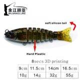 Js-14-8 Plus de couleur 8 sections d'appât leurre de pêche de transmission multiples