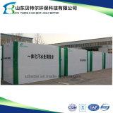 Dispositif souterrain de traitement d'eaux d'égout pour le traitement des eaux résiduaires résidentiel