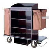 Carro da empregada doméstica das tarefas domésticas do aço inoxidável da alta qualidade com revestimento escovado