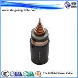 Средств напряжение тока XLPE изолировало силовой кабель обшитый PVC экранированный Armored подземный