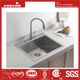 ステンレス鋼のハンドメイドの上の台紙の台所の流し、ハンドメイドの流し、台所洗面器、ステンレス鋼の台所タンク