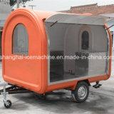 Тележка торгового автомата еды улицы, кухня тележки еды, передвижная тележка еды с большим колесом Jy-B10