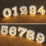 Sinal de letreiro iluminado por LED Letras de alfabeto de madeira