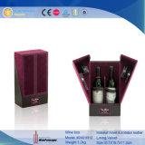 Décoration en bois spécial à 2 bouteille de vin d'affichage Case (2401R2)