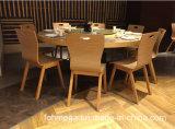 Tabela de jantar de madeira moderna do restaurante e 8 cadeiras