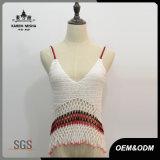 Parti superiori sexy del Crochet di slittamento del V-Collo di Boho delle donne