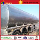 Navio petroleiro de caminhões de espelho de corpo do tanque de alumínio polido Reboque