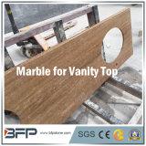 Tapa de mármol natural de la vanidad para la decoración de la cabina de cuarto de baño/del cuarto de baño