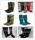 Bottes de sécurité étanche de gomme à mâcher sur Kness bottes en caoutchouc Bottes de pluie en caoutchouc