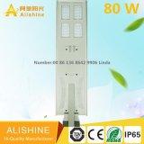 Al-X80 W Todo en un fabricante de luces de calle Solar