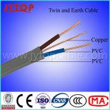 Fio plana com isolamento de PVC com 2 núcleos