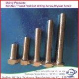 Boulon à tête hexagonale en acier au carbone galvanisé933/931 DIN M6-M36