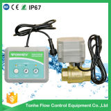 Solution sans fil de contrôleur de détecteur de détection de fuite de l'eau avec la soupape motorisée