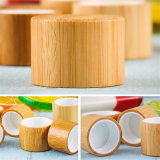 Choc crème en bambou cosmétique de luxe de couvercle en bambou