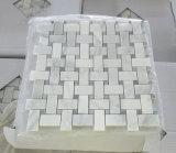 Carrara 백색 대리석 모자이크 헤링본 모자이크