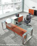 Folheado de madeira de ácer Premium Office Secretária Executiva (IC-ED01)