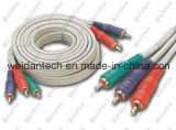 100ft 3RCA aan 3RCA Composite Stereo AV Cable