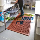 ゴム製台所マットの酸の抵抗力があるゴム製マットの排水のゴムマット