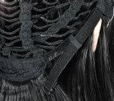 Парик фронта шнурка прямых волос Glueless париков черный с париком человеческих волос плотности волос 130% младенца