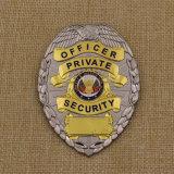 カスタム高品質の柔らかいエナメルの金属の金の銀の警察は記章を付ける
