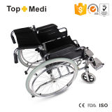 طبيّة [شرمد] فولاذ عجلة قابل للفصل كرسيّ ذو عجلات [فولدبل] يدويّة