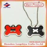 Tag de cão de aço inoxidável Etiquetas de cão de estampagem em forma de coração