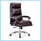 Foshan precios baratos de la Oficina de cuero silla con reposabrazos plegable