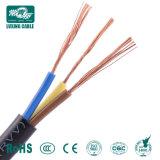 H05VV-F медные электрические гибкий плоский провод 220V кабеля питания