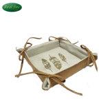 Caixa de Armazenamento do pano artesanais de decoração da Cesta