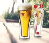 Подгонянная двойная чашка сока стекла пива стены для подарка промотирования