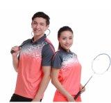 Lumière et chemise de tennis colletée par polyester 100% sec respirable d'ajustement