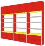 Estante llano de los muebles de la biblioteca de 4 caras del doble