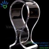 Forme en U en acrylique transparent détenteur d'affichage de l'écouteur du casque de présentoir acrylique de haute qualité Présentoir pour casque