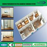 Chalet prefabricado de la casa ensanchable prefabricada del envase del emplazamiento de la obra del bajo costo