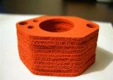 Gaxeta próxima da esponja do silicone da pilha, gaxeta de espuma do silicone com alta qualidade