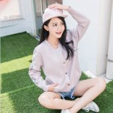 2017 senhoras frouxas fêmeas da camisola coreana nova fizeram malha o revestimento do casaco de lã