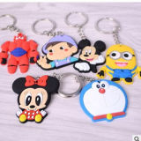 Produit promotionnel personnalisé Rubber Silicon Cartoon Plastic Keychain