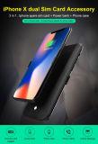Het dubbele Dubbele Reserve2SIM Super Dunne Geval van de Telefoon van de Bank van de Macht SIM voor iPhone