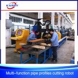 El tubo ata el orificio rectangular del corte del tubo del tubo cuadrado y la maquinaria del cortador de la máquina que ranura que bisela